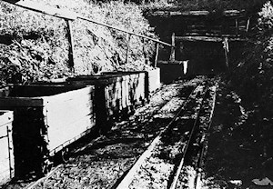 Coal skips entering the mine